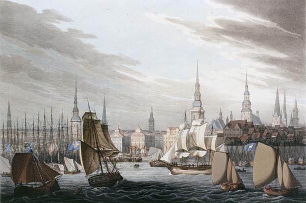 Неизвестный автор. Цветная акватинта. 1815 год