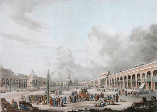 Неизвестный автор по рисунку Д. Лафона. Офорт. Лондон. 1813 год
