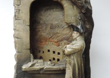 """Настольные часы """"Наполеон смотрит на горящую Москву в 1812 году"""""""